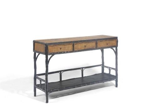 Buy1Get1 FREE! -Large Buffet Console Color - Combo Antique Black/TortoiseItem to be discontinued