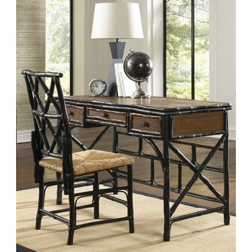 CLOSE-OUT - BUY1, GET1 FREE! Desk and Chair Set Color - Antique Tortoise/Black Frame This Item