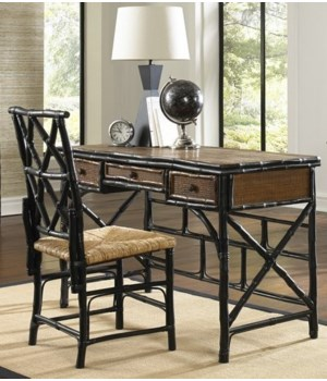 CLOSE-OUT - 25% Off!Desk & Chair SetColor - Tortoise/Antique BlackChair with Rush SeatAll Close