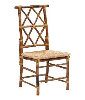 Buy1Get1 FREE! -Dining Chair with Rush SeatColor - TortoiseSold in Pairs Only (price shown is per