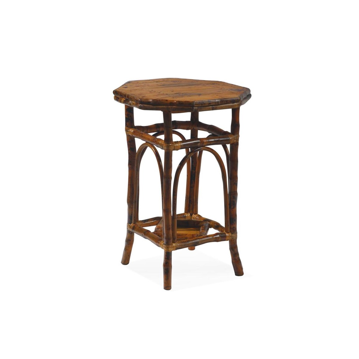 Octagon Side Table Finish - Antique Tortoise