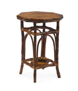 Octagon Side TableFinish - Antique Tortoise