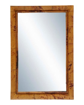 Mirror w/ Bamboo Edge 24x36Frame Color - Tortoise Matte