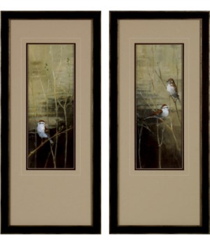 Sparrows at Dusk (set of 2 only)