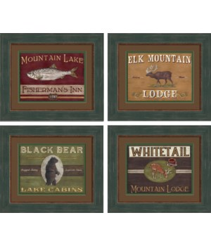 LODGE SIGNS S/4 (19029-32)