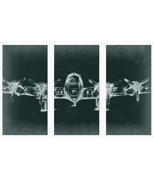 PLANE TRIPTYCH (set of 3 only)