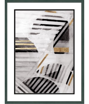 BLACK WHITE GOLD I (embellished)