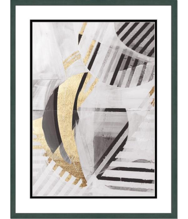 BLACK WHITE GOLD II (embellished)