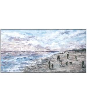 ALONG THE BEACH (framed)