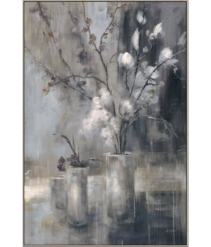 SILVER FLORAL ALT VI (framed)