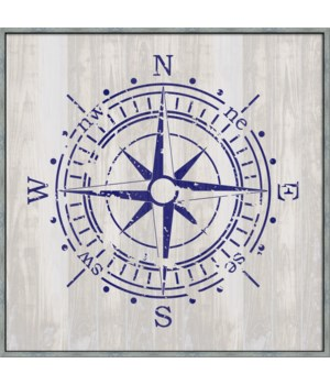 NAUTICAL COMPASS (large)(framed)