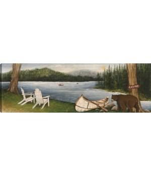 NORTHWOODS BEAR (giclee on canvas)