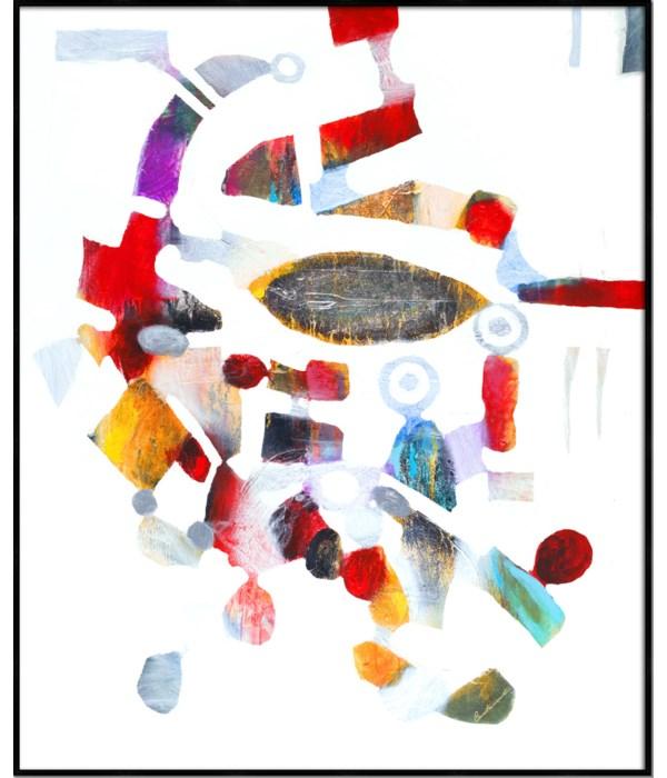 COLLAGE I (giclee)(framed)