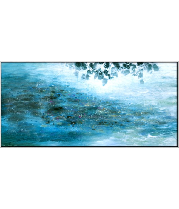 BY THE RIVER (giclee)(framed)