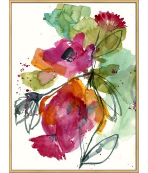 FLOWER PARTY I (framed)