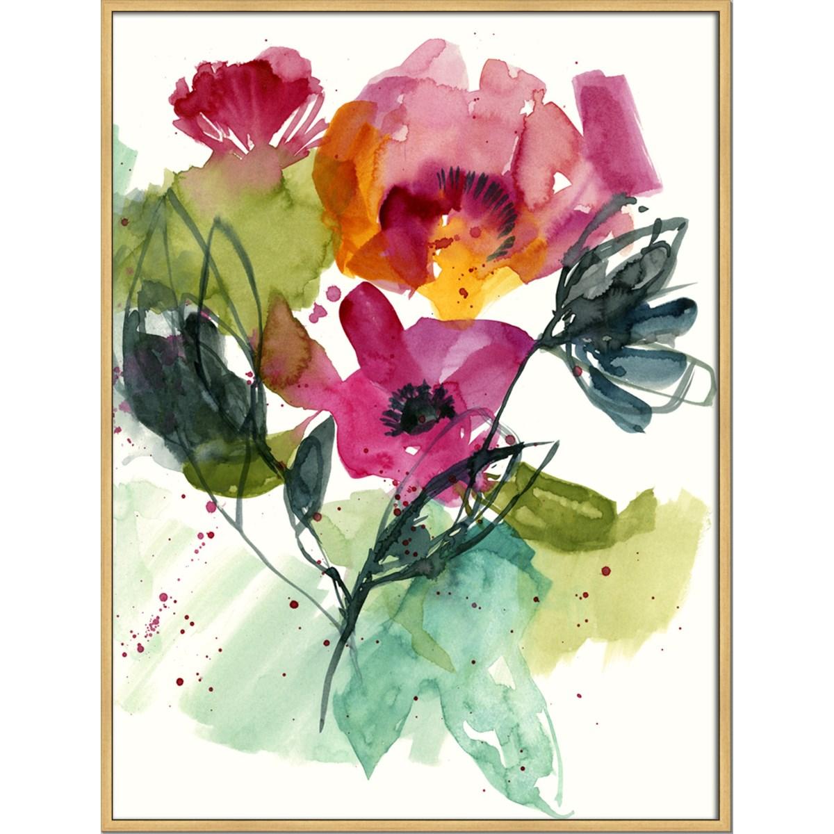 FLOWER PARTY II (framed)