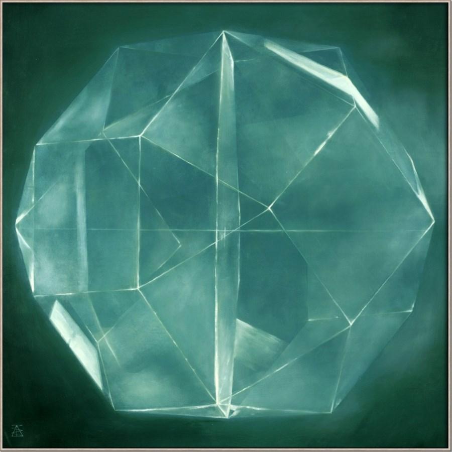 CRYSTAL IN BLUE - HIGH GLOSS (float frame)