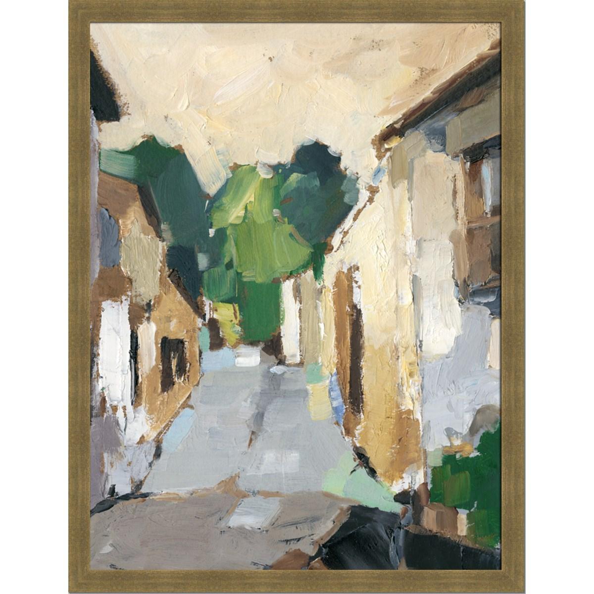 VILLAGE STREETS I (framed)
