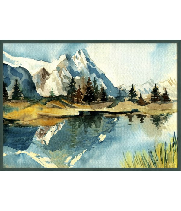 MOUNTAIN REFLECTIONS (framed)