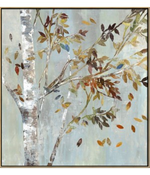 BIRCH w/LEAVES I (in floater frame)