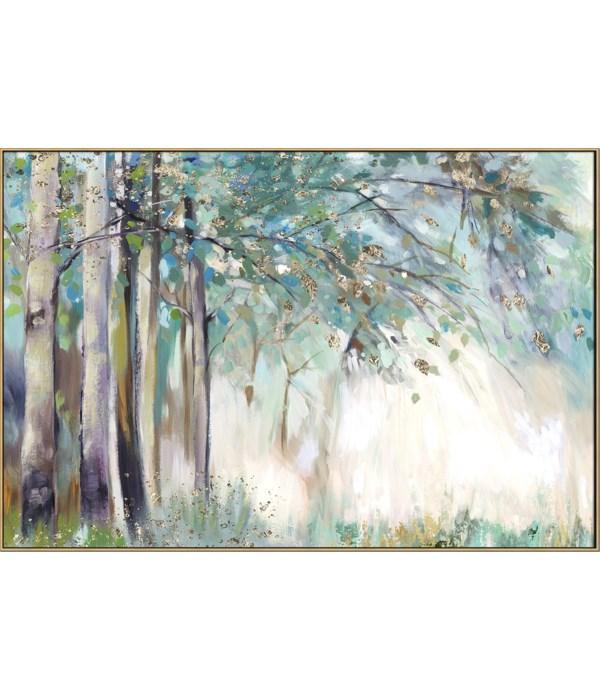 SILVER LEAVES (framed)