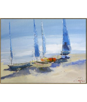 BEFORE THE SAIL (framed)