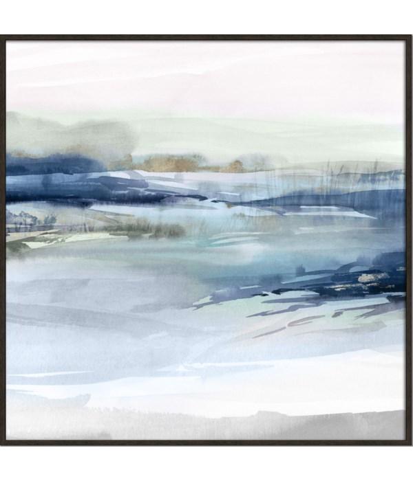 DUSK ON THE RIVER (framed)