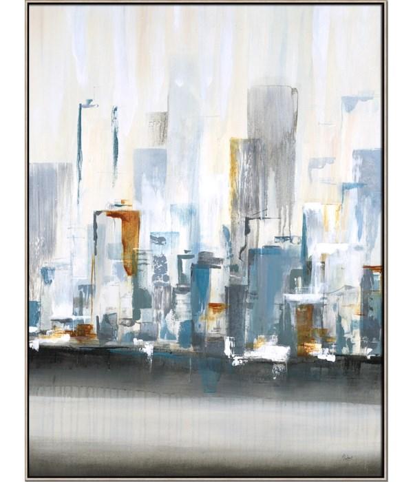 CITY IN LIGHT I (in floater frame)