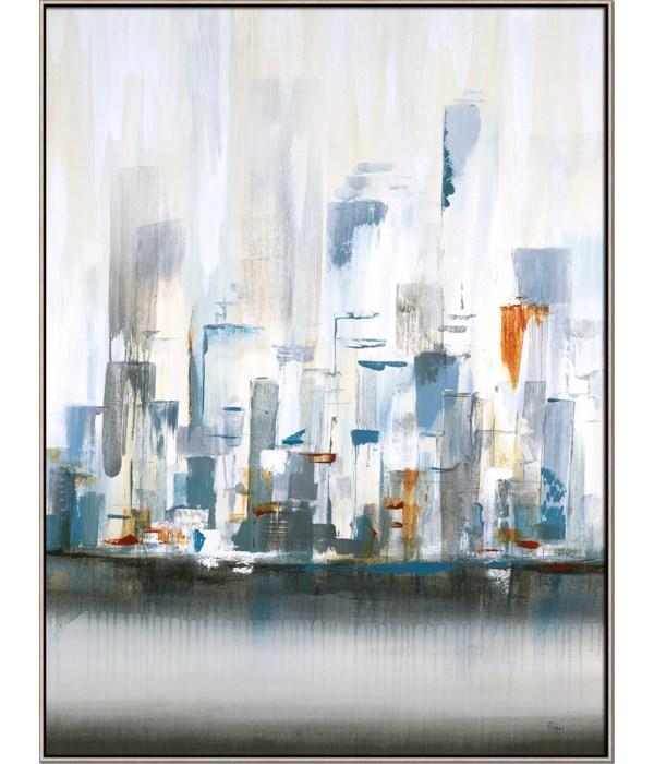 CITY IN LIGHT II (in floater frame)