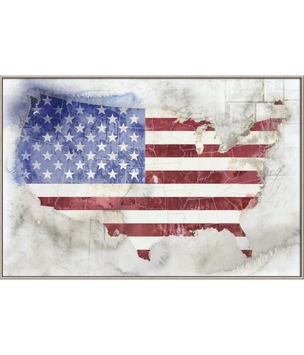 MAP OF USA (framed)