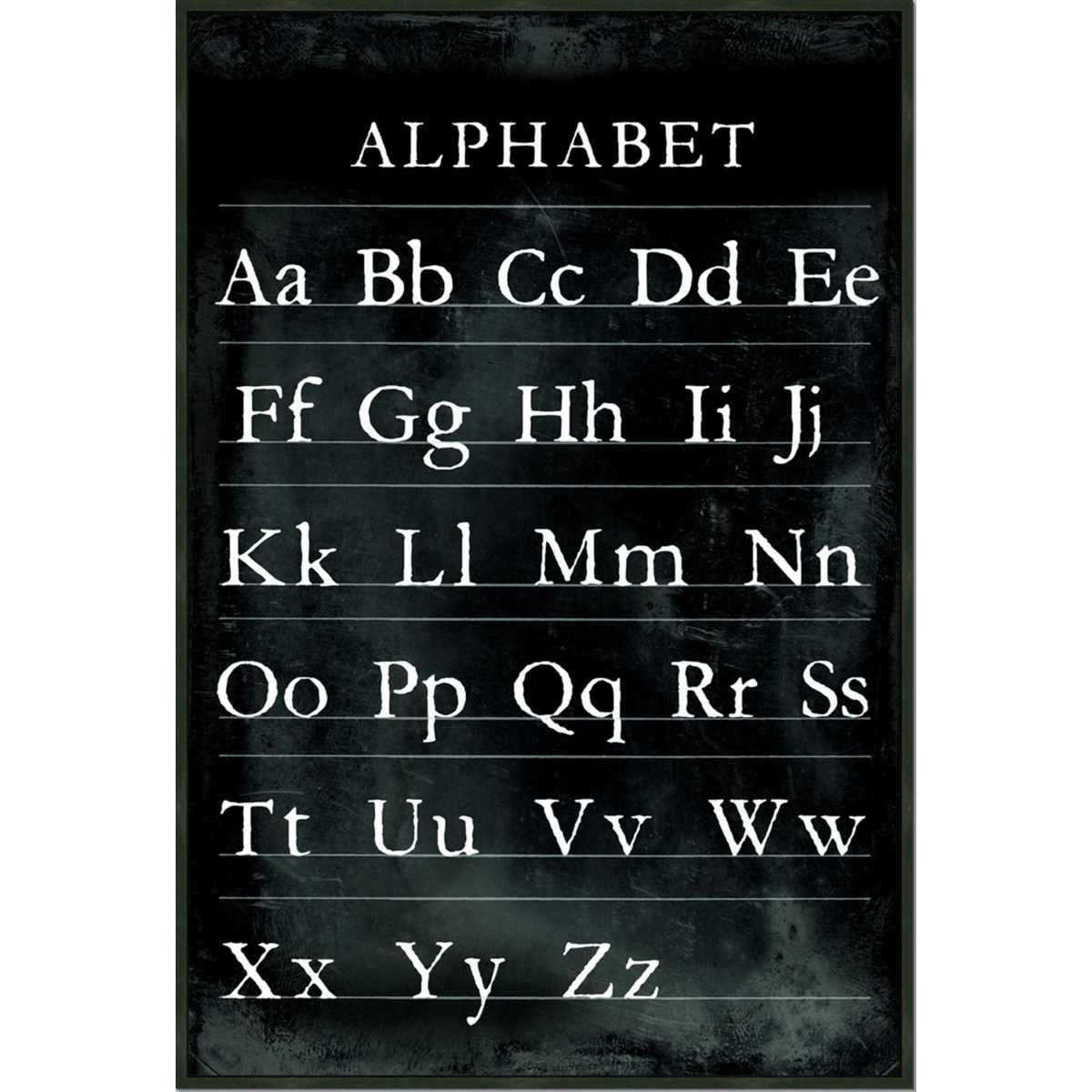 ALPHABET CHART (framed)