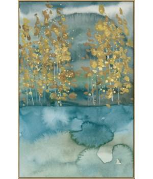 GOLDEN TREES I (framed)