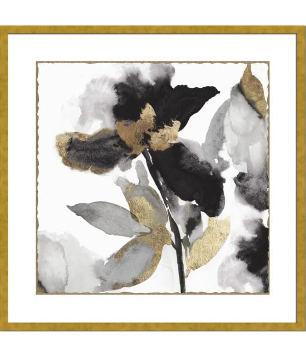 BLACK PETAL GOLD LEAF I