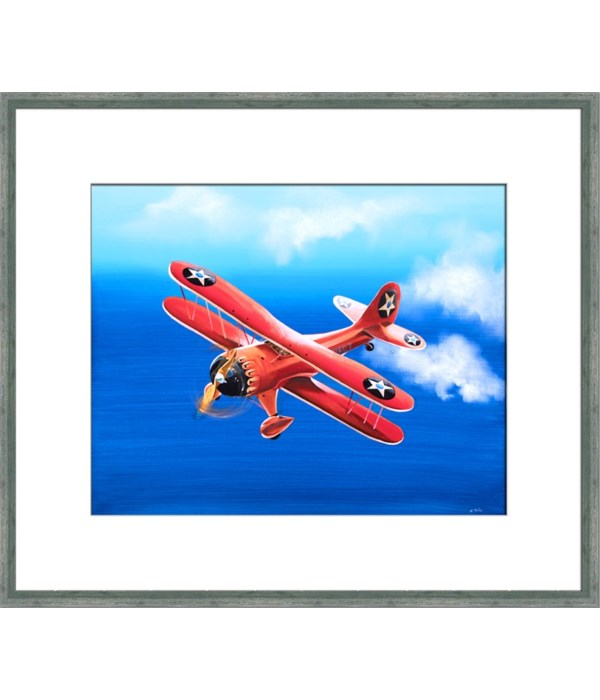 RED BIPLANE (exclusive giclee)