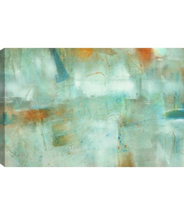 TEAL ABSTRACT (flash sale)