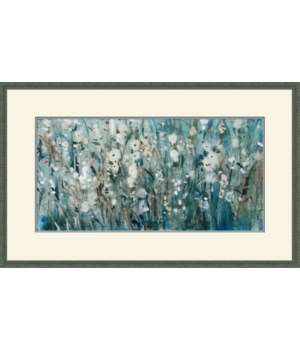 WHITE BLOOMS WITH NAVY I (giclee)