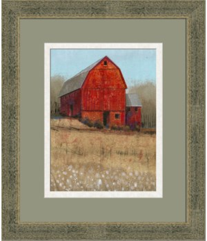 RED BARN VIEW I (giclee)