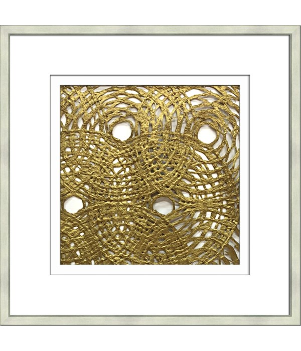 MULBERRY PAPER CIRCLE GOLD