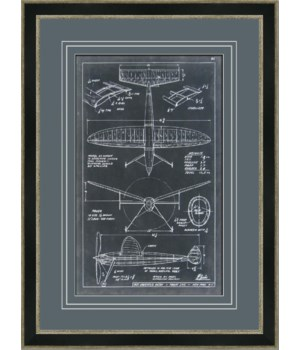 AERONAUTIC BLUEPRINT III (giclee)