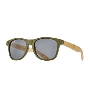 CLASSIC - MATTE ARMY GREEN / NATURAL BAMBOO / SMOKE LENS