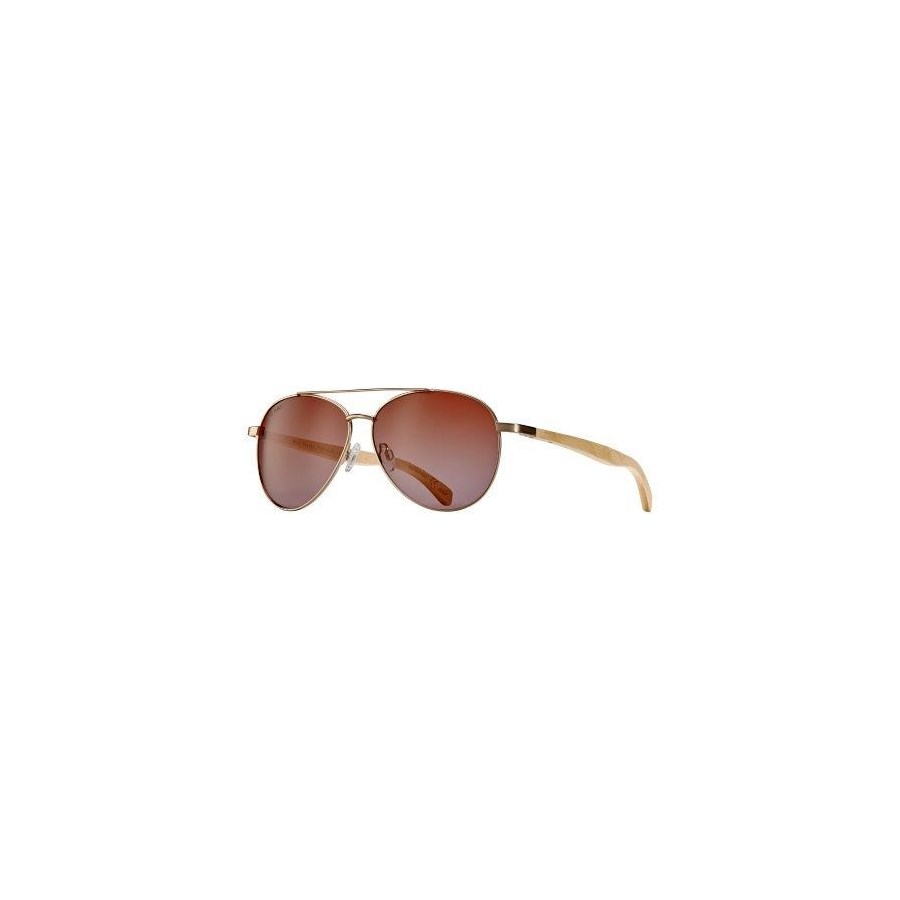Amador Oceana - Matte Gold / Natural Beechwood / Brown to Rose Gradient Polarized