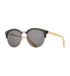 MARIN - BLACK ONYX / SILVER / NATURAL BAMBOO / SMOKE POLARIZED LENS