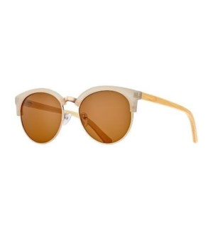 MARIN - BEIGE / SILVER / NATURAL BAMBOO / BROWN POLARIZED LENS