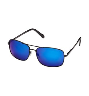 James- Matte Black / Blue Mirror Polarized
