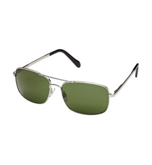 James- Silver / Grey Green Polarized