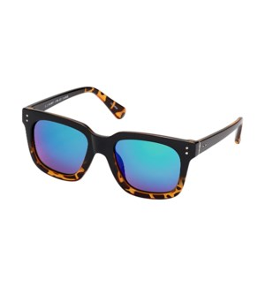 Watson - Black Onyx / Dark Amber Tortoise Fade / Green Mirror Polarized