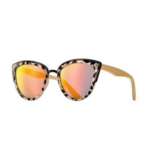 Bailey - Black Tortoise / Black / Natural Bamboo / Pink Mirror