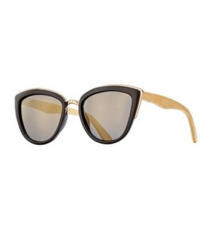 BAILEY - MATTE BLACK / BLACK / NATURAL BAMBOO / SMOKE POLARIZED LENS