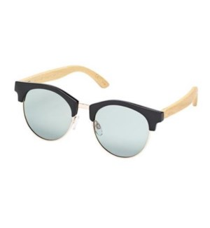 Sawyer - Black / Gold / Natural Bamboo / Smoke Polarized