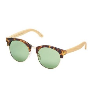Sawyer - Honey Tortoise / Gold / Natural Bamboo / Grey-Green Polarized